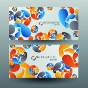 Link toColored abstract infographics banner vector 05 free