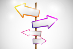 Link toColored arrows sign vector