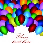 Link toColored balloons holiday background illustration set 05 vector