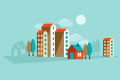 Link toColored building vector illustration