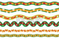 Link toColored christmas decorations streamers vector