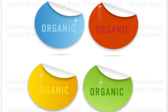 Link toColored circle stickers vector
