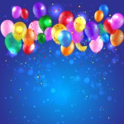 Link toColored confetti with happy birthday background vector 01 free