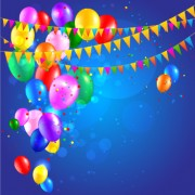 Link toColored confetti with happy birthday background vector 03 free