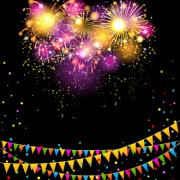 Link toColored confetti with happy birthday background vector 04 free
