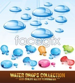 Link toColored crystal drops vector