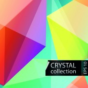Link toColored crystal triangle shapes vector background 03 free