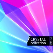 Link toColored crystal triangle shapes vector background 05 free