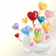 Link toColored dream heart design vector 04 free