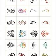 Link toColored floral ornaments design elements vector free