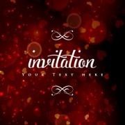 Link toColored halation invitations background vector 02 free