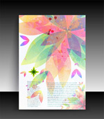 Link toColored leaf background vector
