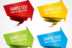 Link toColored origami arrow labels set vector