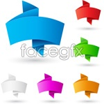 Colored origami dialog box, vector