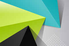 Link toColored origami triangles vector background