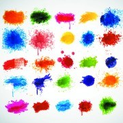 Link toColored paint splashes grunge vector background 02