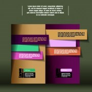 Link toColored paper business background vector 03