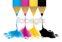 Colored pencil paint vector