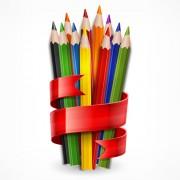 Link toColored pencils vector background set 04