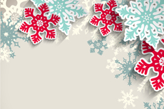 Link toColored snowflakes clip art background vector