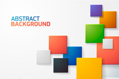 Colored squares cut background vector