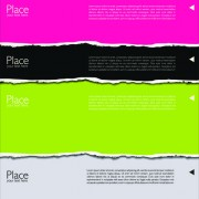 Link toColored torn paper backgrounds 04 vector