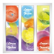 Link toColored watercolor banners vector free