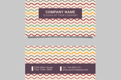 Link toColored wavy line business card vector