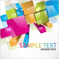 Link toColorful 3d cubes vector background
