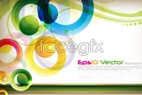 Colorful and dynamic circular background vector