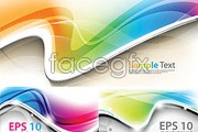 Link toColorful and dynamic curves of vector background