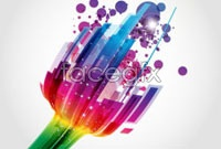 Link toColorful and dynamic light vector background 1