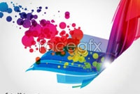 Link toColorful and dynamic light vector background 3