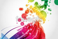 Link toColorful and dynamic light vector background 4