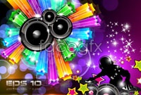 Link toColorful and dynamic musical elements vector