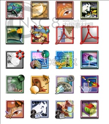 Link toColorful art picture frame system icons