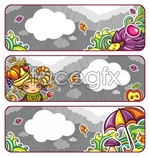 Link toColorful autumn banner vector