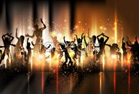 Link toColorful background dancer silhouettes vector