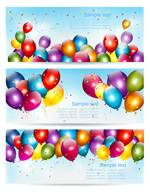 Link toColorful balloon banner vector