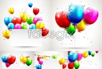 Link toColorful balloons advertising display panels vector
