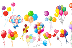 Link toColorful balloons element vector