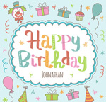 Link toColorful birthday poster vector