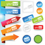 Link toColorful bookmarks vector
