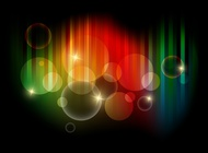Link toColorful bubbles vector art free