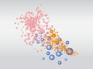 Colorful bubbles vector free