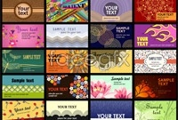 Link toColorful business card template vector map pack