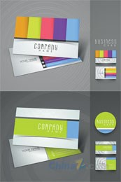 Link toColorful business card vector template design