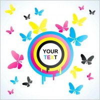 Link toColorful butterfly background 01 vector