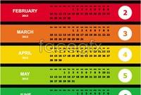 Link toColorful calendar template vector