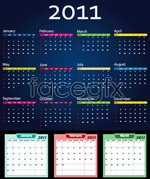 Link toColorful calendar vector